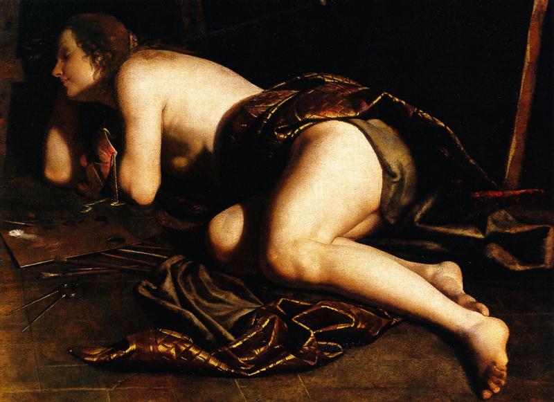 Artemisia Gentileschi. Allegory of painting
