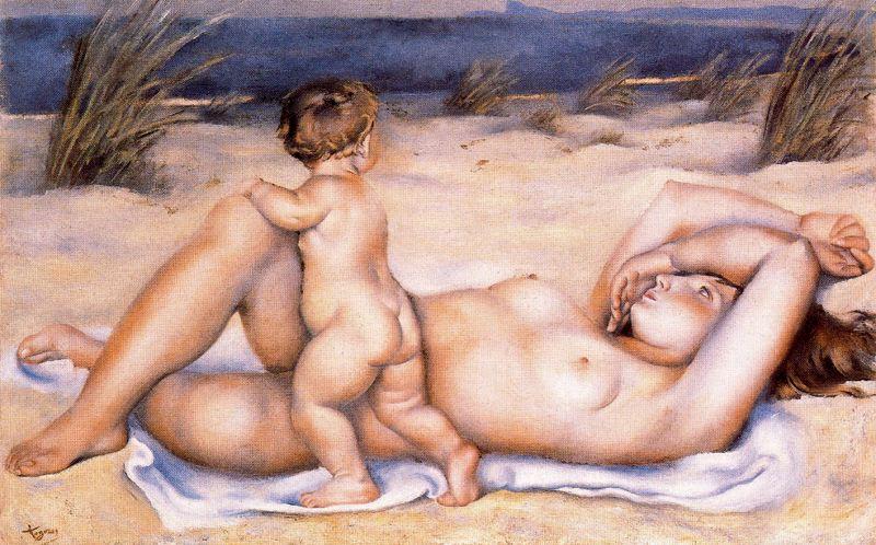 Хосе де Тогорес. Мать с ребенком на пляже