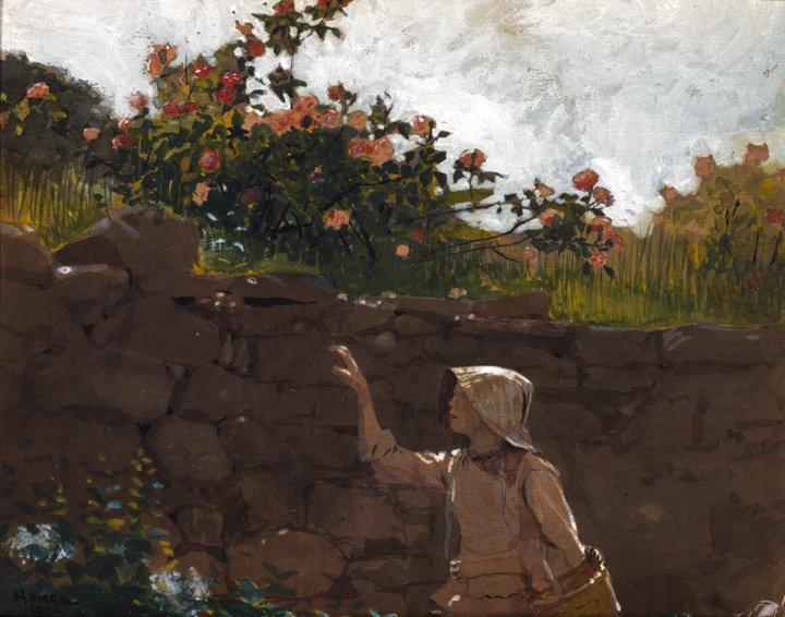 Уинслоу Хомер. Девушка в саду