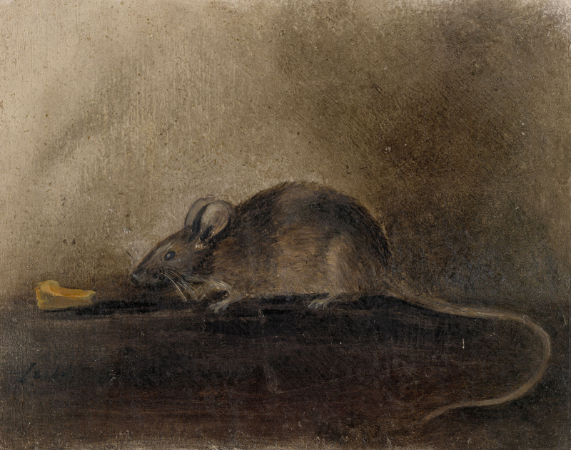 John Constable. Mouse with piece of cheese
