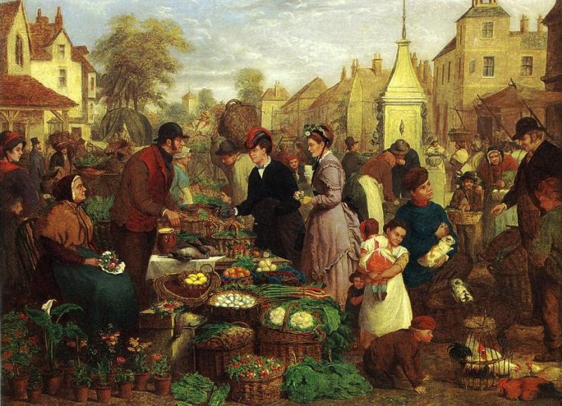 Генри Чарльз Брайант. Сцена на рынке