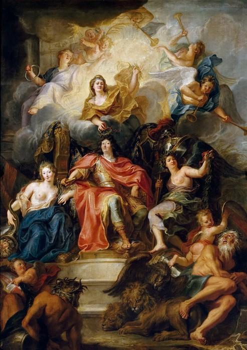 Антуан Куапель. Аллегория славы Людовика XIV