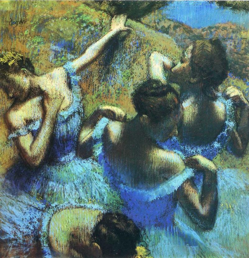 Edgar Degas. Blue Dancers