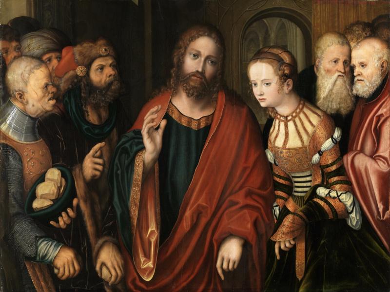 Лукас Кранах Старший. Христос и грешница