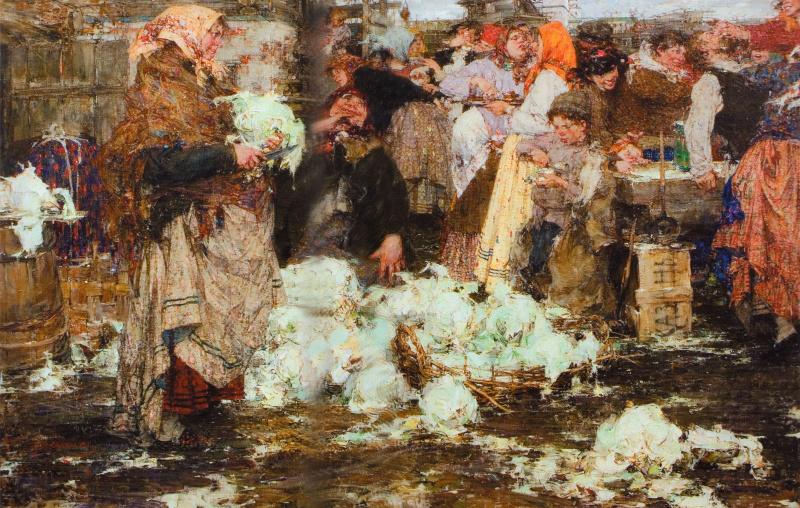 Nikolay Feshin. Cabbage
