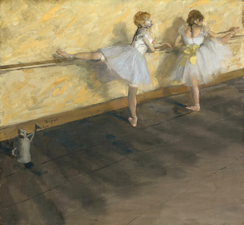 Edgar Degas. Dancers at the bar