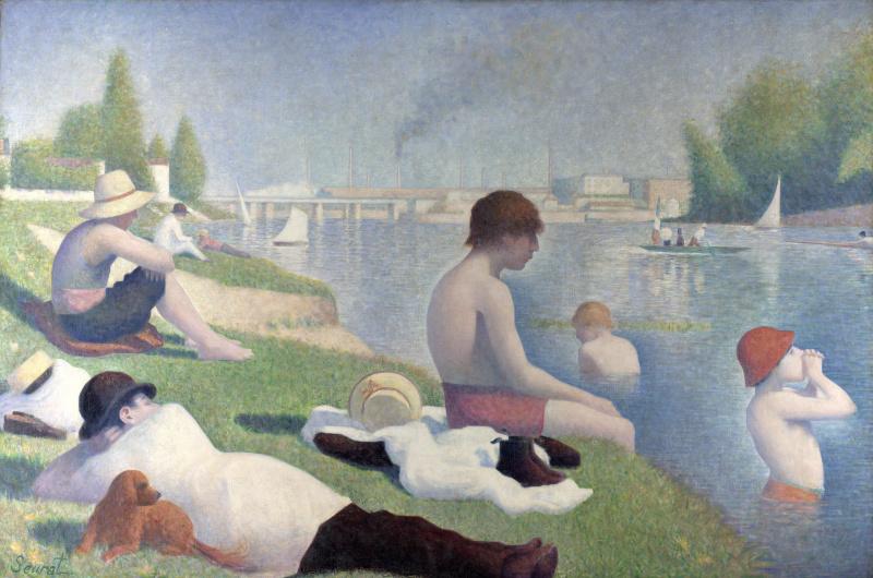 Georges Seurat. Bathing at Asnières