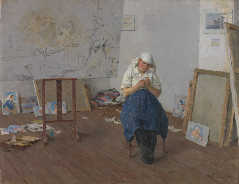 Tetyana Yablonska. Model in the artist's Studio
