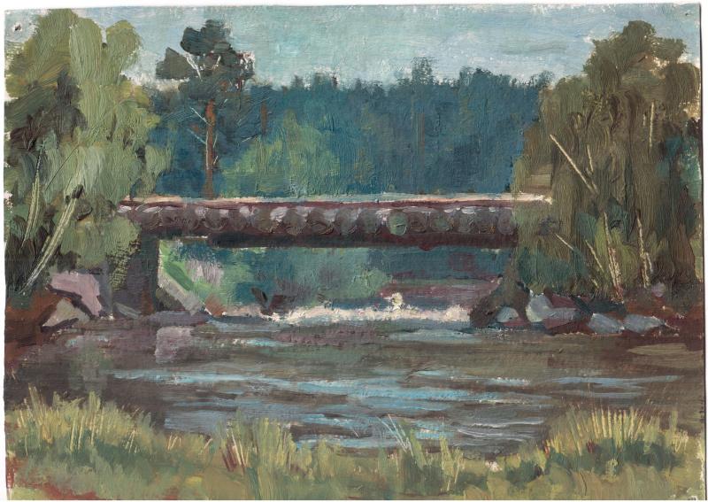 Arkady Pavlovich Laptev. Wooden bridge