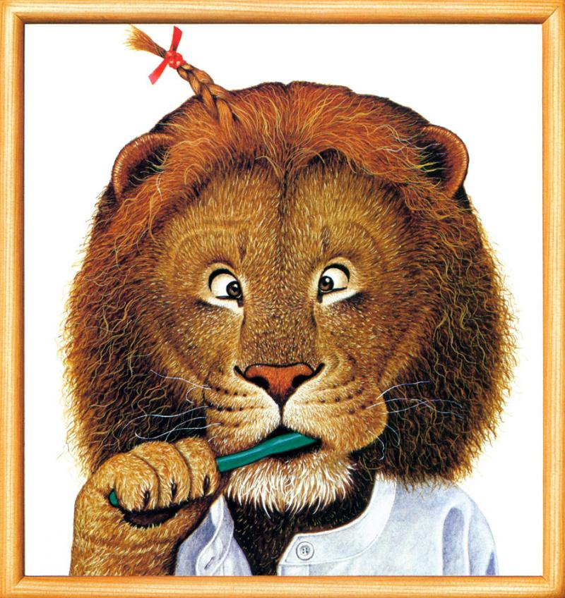 Открытки в виде льва