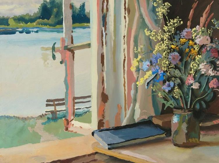 Владимир Михайлович Конашевич. Букет у окна