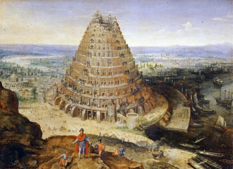 Лукас ван Валькенборх. Строительство вавилонской башни