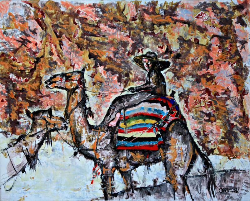 Victor Alexandrovich Ovsyannikov. In the gorge of Petra