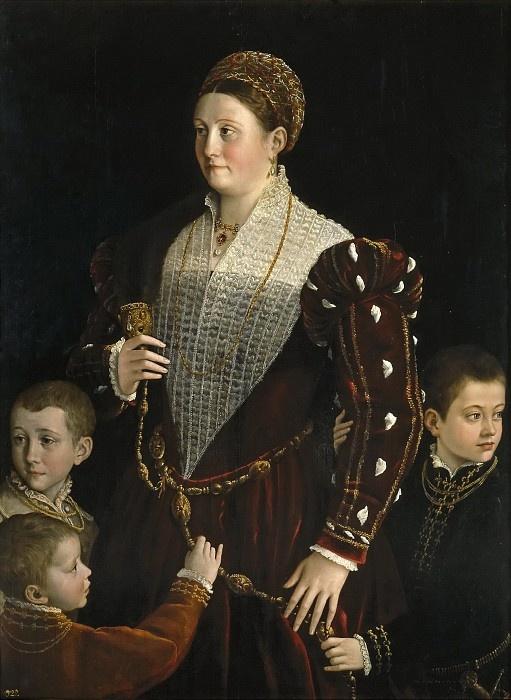 Франческо Пармиджанино. Портрет Камиллы Гонзаго с сыновьями