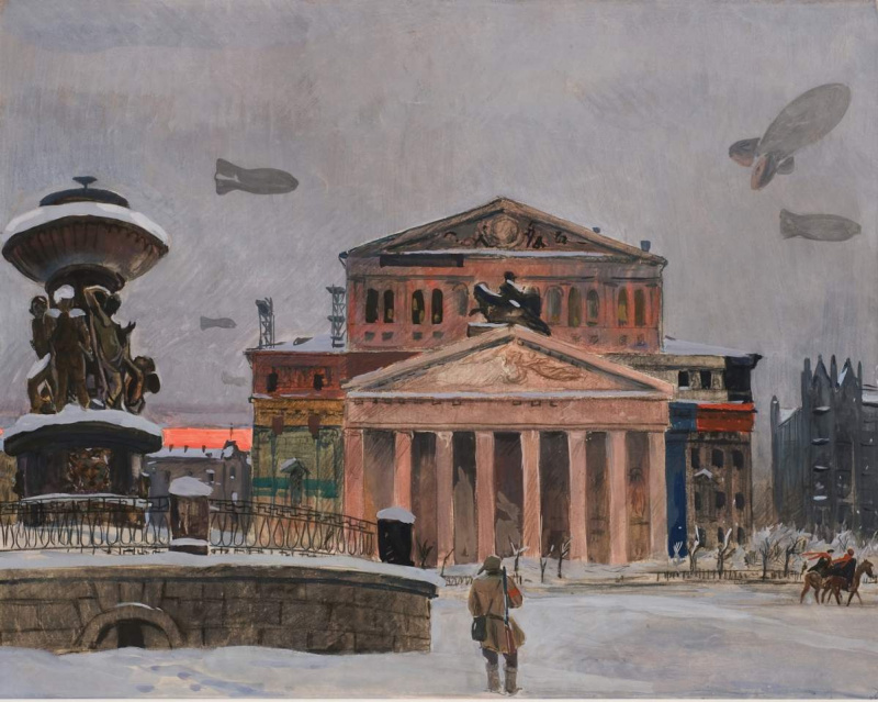 "Alexander Alexandrovich Deineka. Sverdlov Square. Series ""Moscow's military"""
