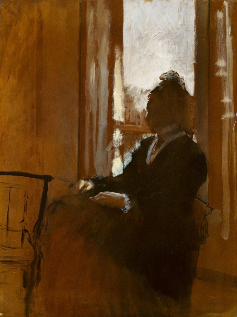 Edgar Degas. Woman at the window