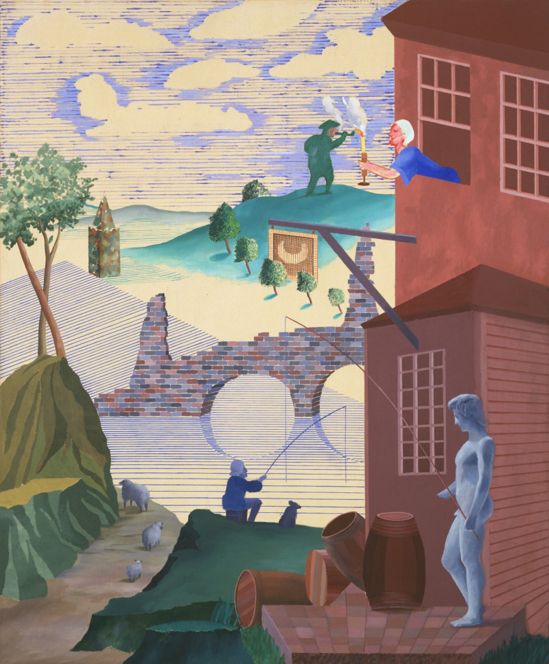 an analysis of the topic of david hockneys works of art They identify one-point perspective in works of art #2 by david hockney tell students that this works of art depicts a highway in southern.