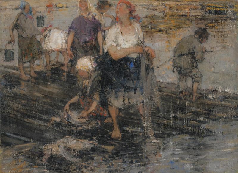Nikolay Feshin. Laundress