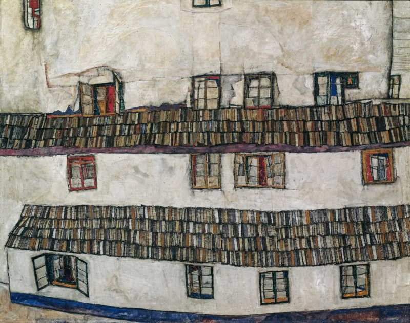 Эгон Шиле. Фасад дома (Окна)