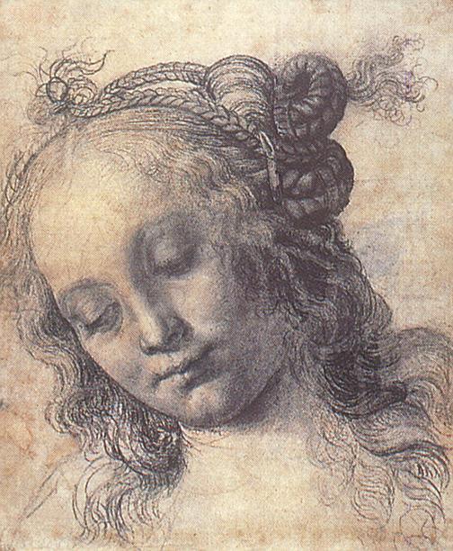 Андреа дель Верроккьо. Голова девочки