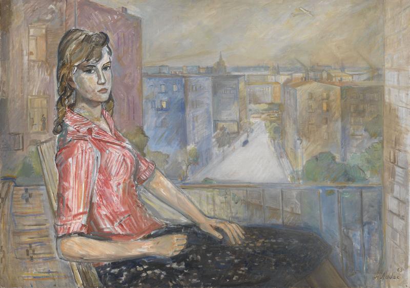 Александр Аркадьевич Лабас. Девушка на балконе