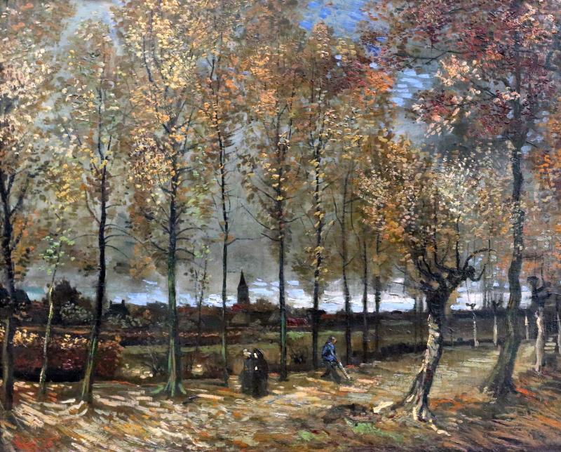Винсент Ван Гог. Аллея тополей близ Нюэнена осенью