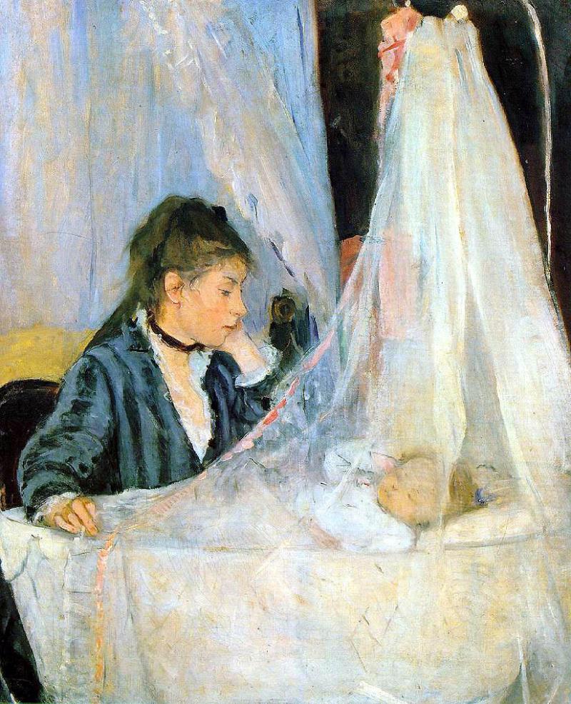 Berthe Morisot. At the cradle