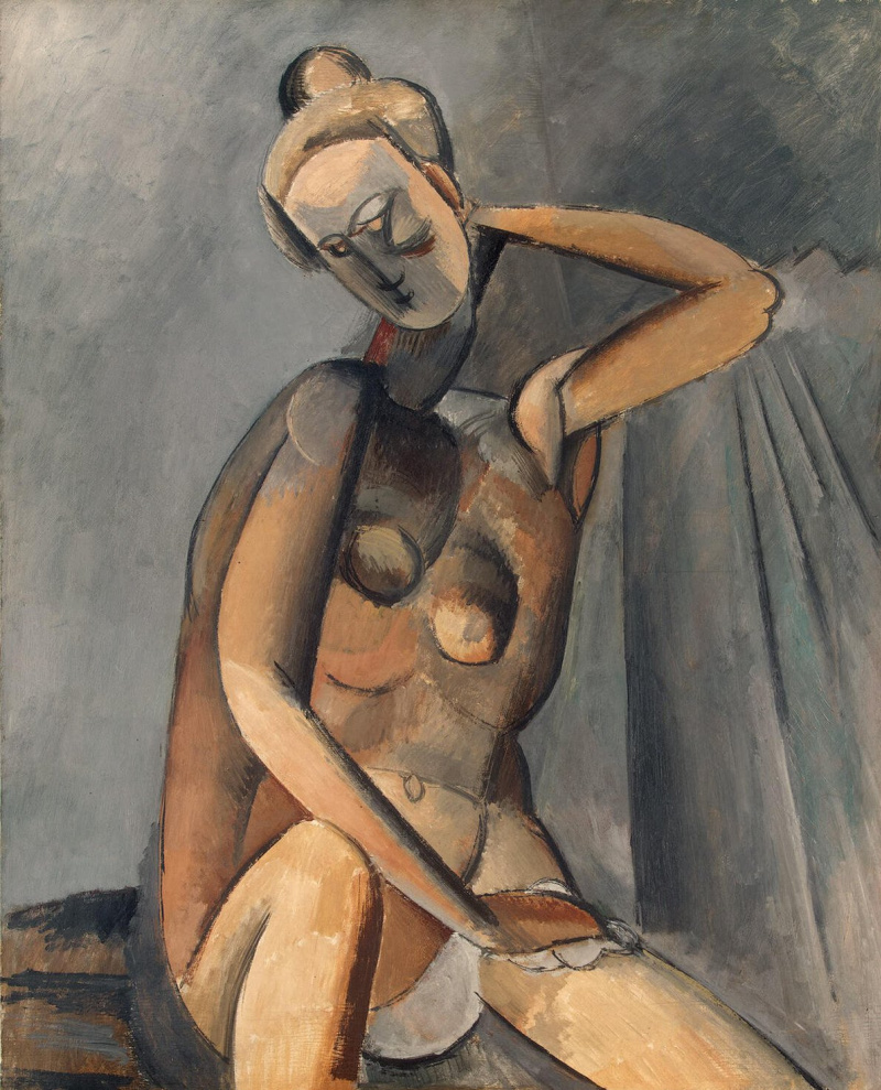 """an analysis of nude woman by picasso 2d analysis """"nude combing her hair"""" pablo picasso 1906 the piece i chose is pablo picasso's """"nude combing her hair"""" i first saw it at the kimbell art museum and remember admiring it."""
