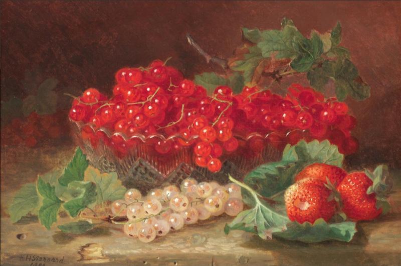 Eloise Harriet Stannard. Still life with redcurrants