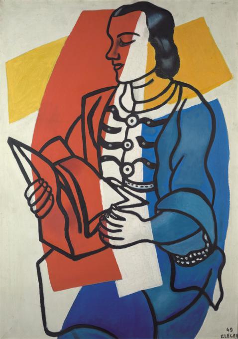 Фернан Леже. Чтение. Портрет Нади Леже, жены художника