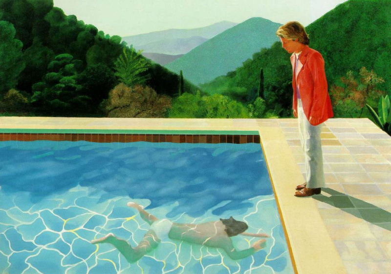 David Hockney. Portrait of the artist (Pool with two figures)
