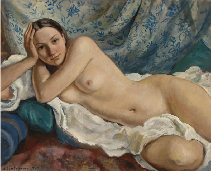 Zinaida Evgenievna Serebryakova. Reclining Nude