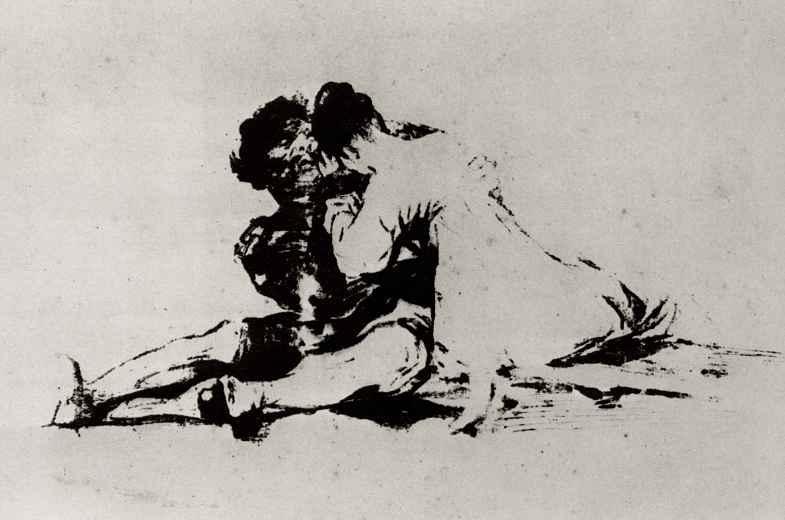 Francisco Goya. Love couple