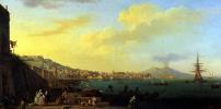 Вид Неаполя с Везувием