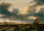 Рыбацкие лодки в неспокойном море