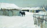 Алексей Степанович Степанов. Деревня зимой