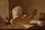Жан Батист Симеон Шарден. Атрибуты живописи и скульптуры