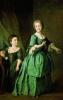 Portrait of students of the Imperial educational society for noble maidens Feodosiya Stepanovna Rzhevskaya and Nastasia Mikhailovna Davidova