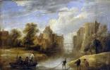 Давид Тенирс Младший. Пейзаж с рыбаками