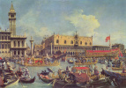 "Giovanni Antonio Canal (Canaletto). ""Bucintoro"" in front of the Doge's Palace"