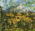 Landscape in Aix. Mont Sainte-Victoire
