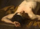Жак-Луи Давид. Лежащий обнаженный. Эскиз для изображения тела Гектора, фрагмент