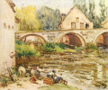 Laundresses in Moret-sur-Loing