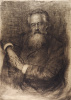 Portrait of the essayist, literary critic, literary critic and translator N. To. Michael. 1890 Etching, drypoint. The author's trial print.