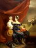 Портрет великой княгини Александры Федоровны с детьми