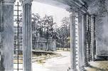 Александр Николаевич Бенуа. Вид павильона Трельяж и фонтана Ева в Петергофе