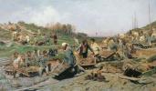 Repair work on the railroad