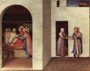 Центральный алтарь святых Косьмы и Дамиана из доминиканского монастыря Сан Марко во Флоренции, основание триптиха, первая сцена: