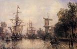 Ян Бартолд Йонгкинд. Лодки на воде
