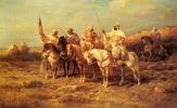 Адольф Шрейер. Арабские всадники на водопое